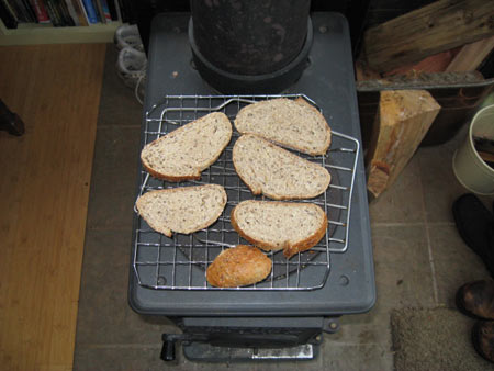 whole-grain-bread-drying