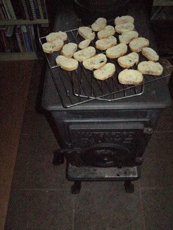 baguette drying